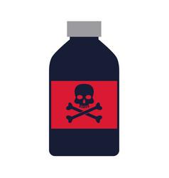 bottle poison danger laboratory toxic vector image