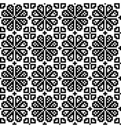 Geometrical flower seamless pattern vector image