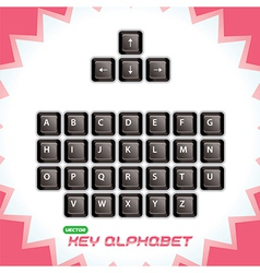 3d keyboard keys vector