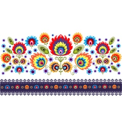 Folk pattern with flowers - two vector