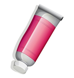 A topview of a medicine tube vector