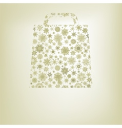 Snowflakes bag template eps 8 vector
