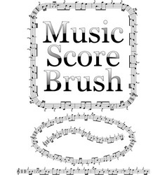 Music score brush vector