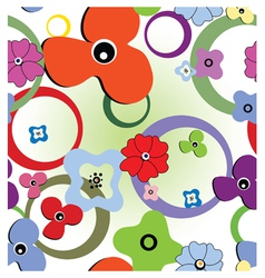 Seamless abstract flowers vector