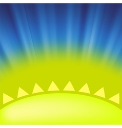 Part of yellow sun vector