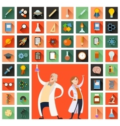 Set of sciense icons vector image
