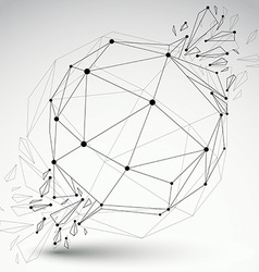 dimensional wireframe object transparent spherical vector image