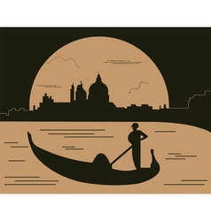 City buildings graphic template venice vector