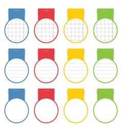 Speech bubble set circle vector