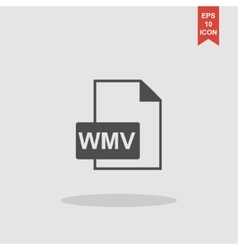 Wmv file icon vector