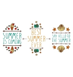 Set of summer hand-sketched elements vector