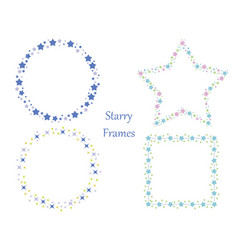 a set of four star frames vector image