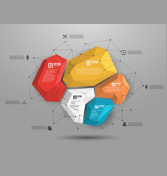 Abstract geometric layout for presentation vector