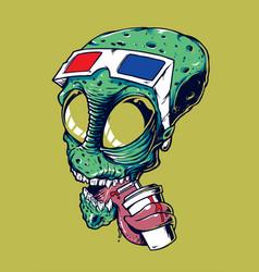 alienhead vector image vector image