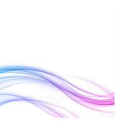 bright modern futuristic elegant wave lines vector image