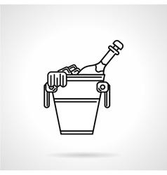 Champagne black line icon vector