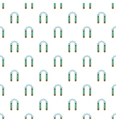 Combat nunchaku pattern cartoon style vector