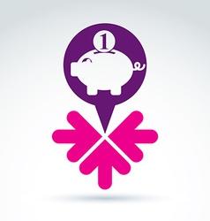 Conceptual personal earnings icon business idea vector