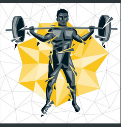 cross fit new man 06 vector image