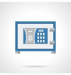 Digital lock safe flat color design icon vector image