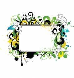 Floral border frame vector