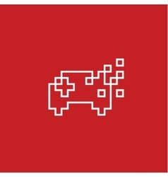Game joystick Pixel flat style vector image vector image