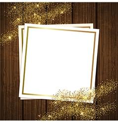 Golden shining background vector