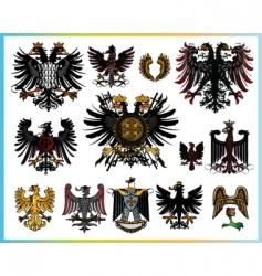 heraldic eagles vector image vector image