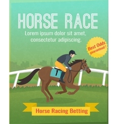 Horse racing poster vector