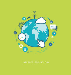 Internet connection technology flat vector