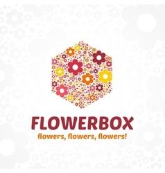 Logo flower box vector image