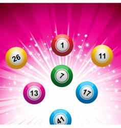 Lottery ball background vector