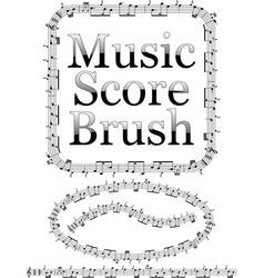 Music score brush vector