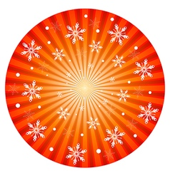 Radiant christmas background vector