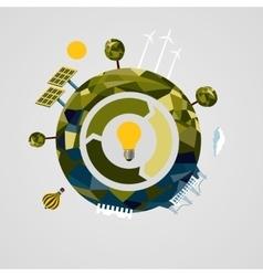 Renewable power concept Alternative energy vector image vector image