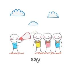say vector image