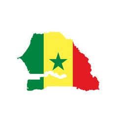 Senegal Map Royalty Free Vector Image VectorStock - Senegal map vector