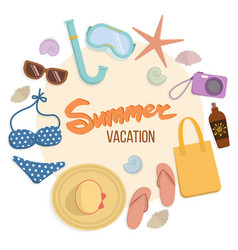set of things for a beach holiday vector image vector image