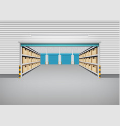 warehouse building background vector image