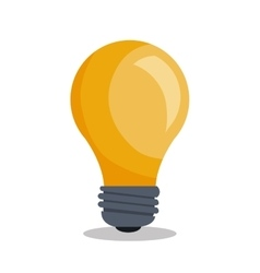 Bulb light idea icon vector