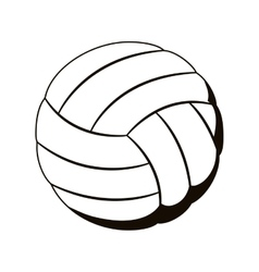 Silhouette monochrome with volleyball ball vector
