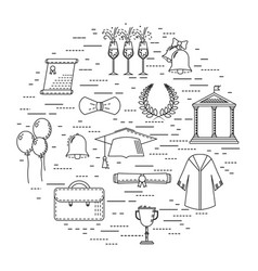 graduational student party objects vector image