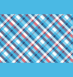 Turquoise seamless pattern check plaid fabric vector
