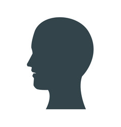 silhouette profile head human man male vector image
