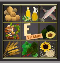 Vitamins box image vector
