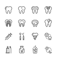 Tooth and dental healthcare and medical icons vector