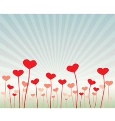 Love flowers vector image