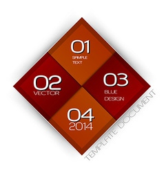 Business four squares red with text vector