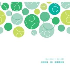 abstract green circles horizontal frame seamless vector image