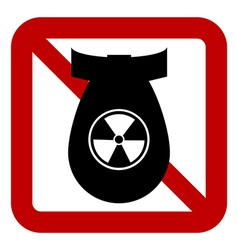 No bomb sign vector